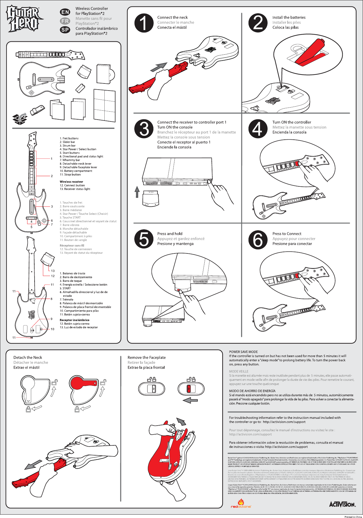 redoctane bw95449806 guitar hero world tour ps2 wireless controller rh usermanual wiki Spanish Guitar Hero World Tour Wii Guitar Hero World Tour
