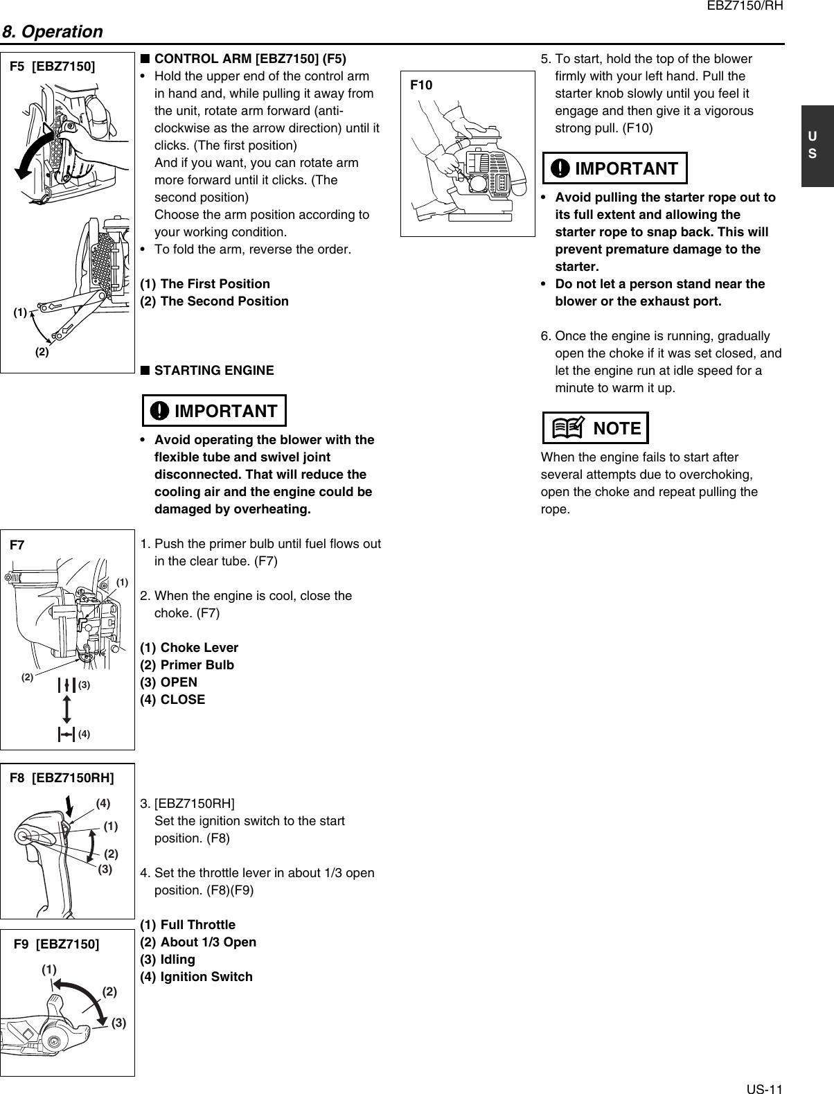 Redmax Ebz7150 Users Manual OM, EBZ7150, EBZ7150RH, 2009 09