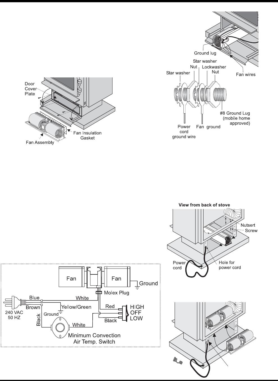Regency Wraps F33 Users Manual 918 532 01 11 07 Fan Wire Diagram 3 Freestanding Gas Stove 19