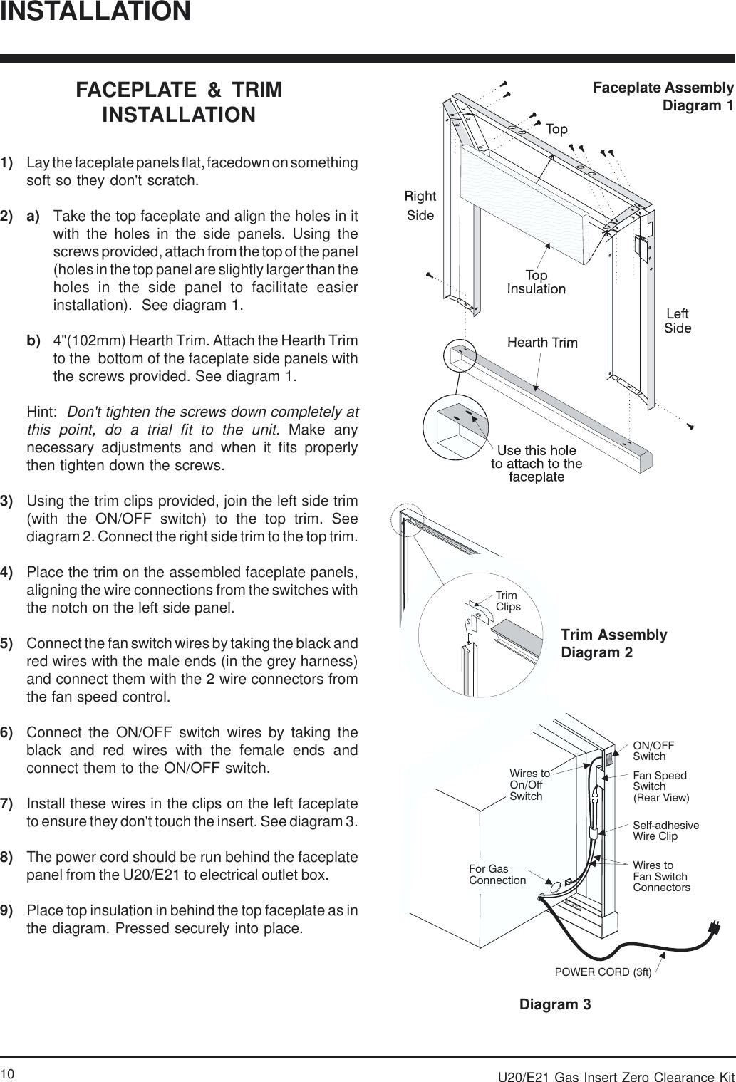 Regency E21 Users Manual 908 037pmd 1 8t Fan Switch Wiring Diagram Page 10 Of 12