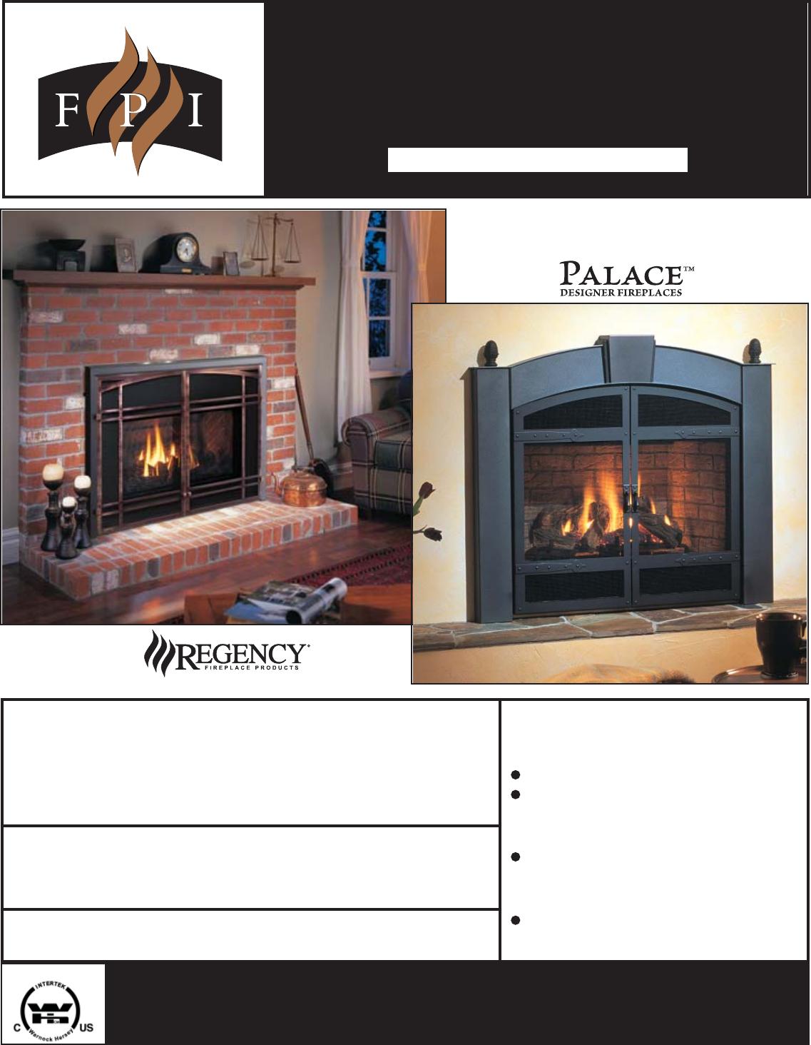 Regency Gas Insert U35 Lp1 Users Manual
