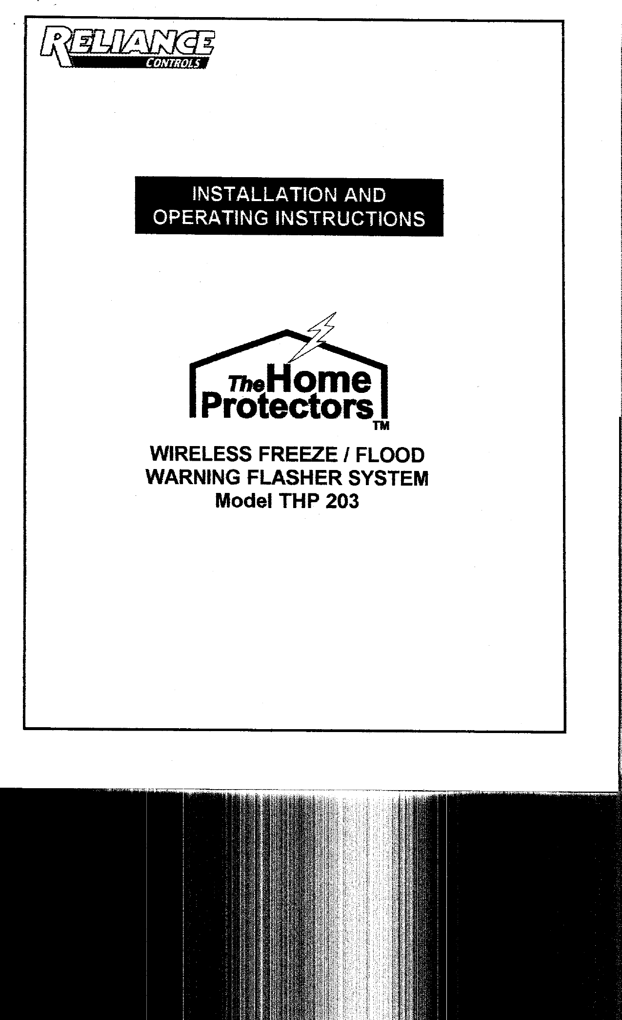 Reliance Controls 11031 Wireless Remote Flood or Freeze