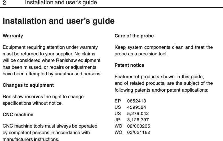 Renishaw plc RMP60 probe for machine tools User Manual RMP60