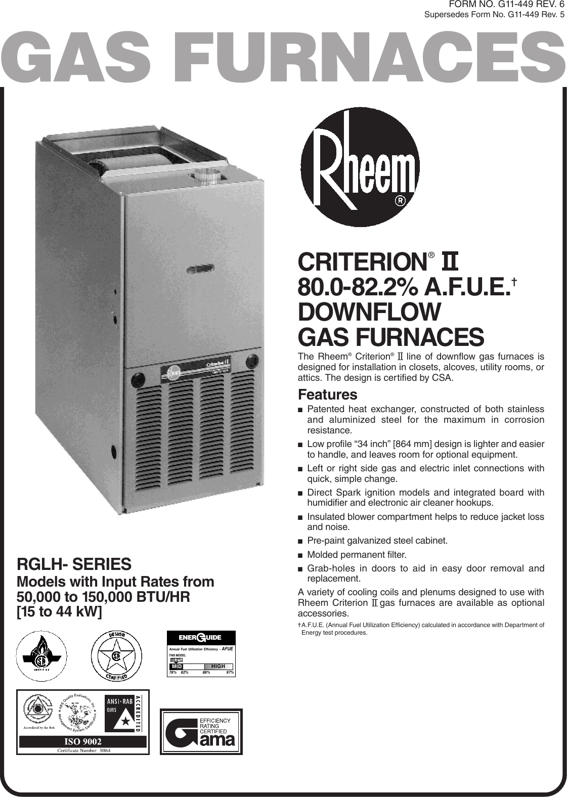 rheem criterion ii kia sedona wiring diagram ps3 internet
