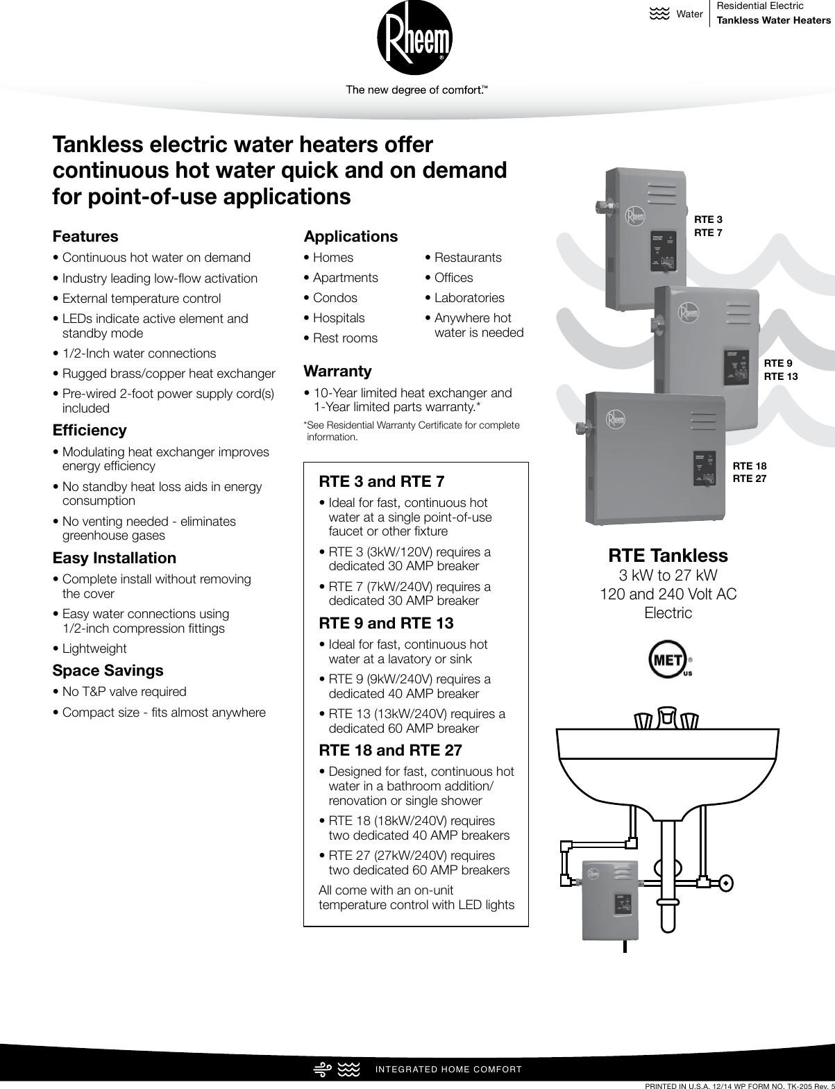 25 Rheem Rte 18 Wiring Diagram Manual Guide
