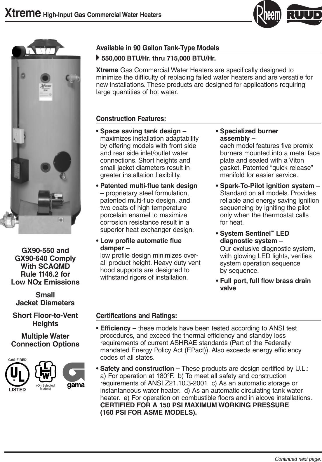 Rheem Xtreme Gx90 550 Users Manual RR102C 15