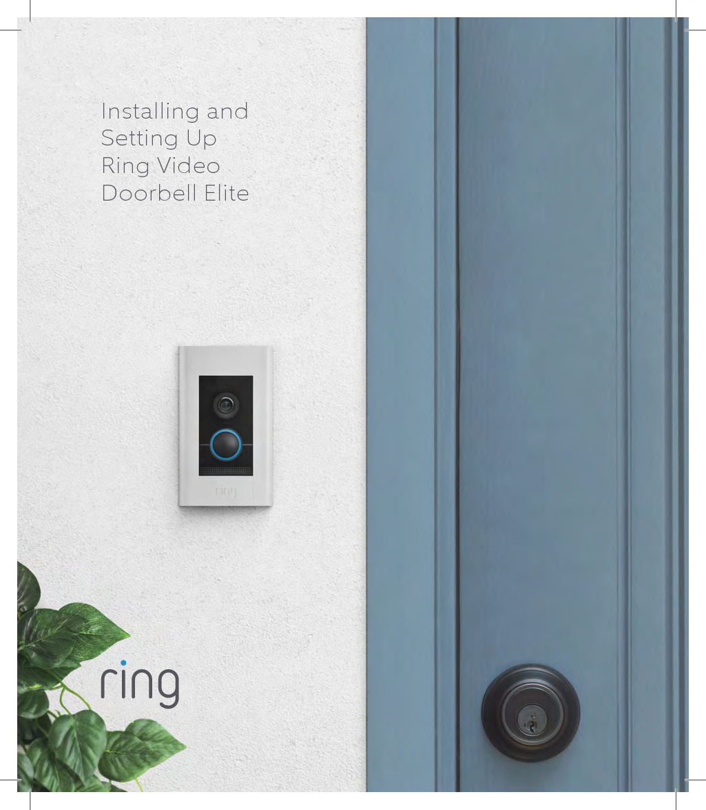 How To Install Ring Video Doorbell Elite Manual Guide