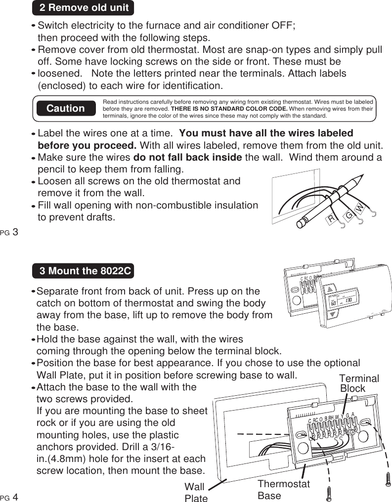 Ritetemp 401 014 Users Manual Rite Temp Thermostat Wiring Diagram 7 Wire Page 3 Of 9