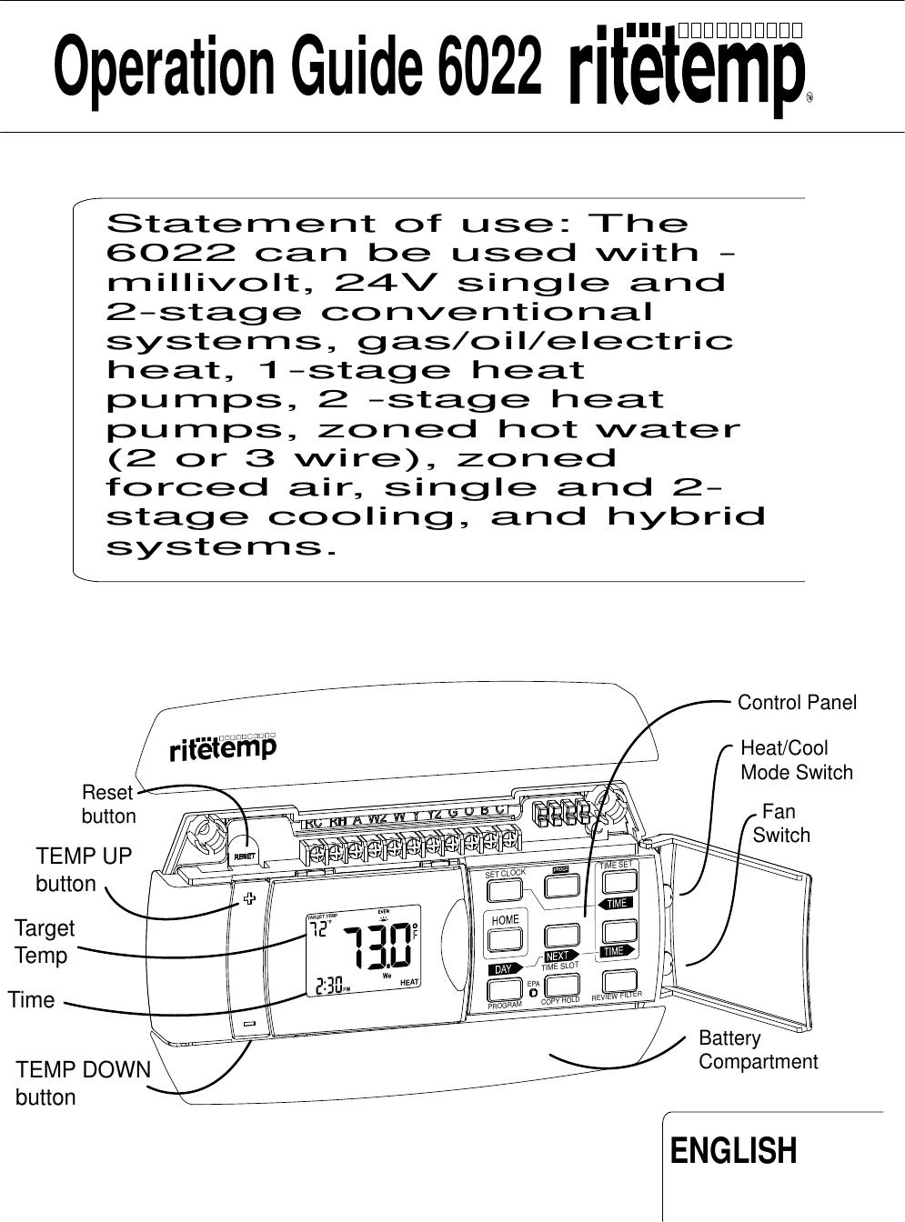 Ritetemp 6022 Owner S Manual