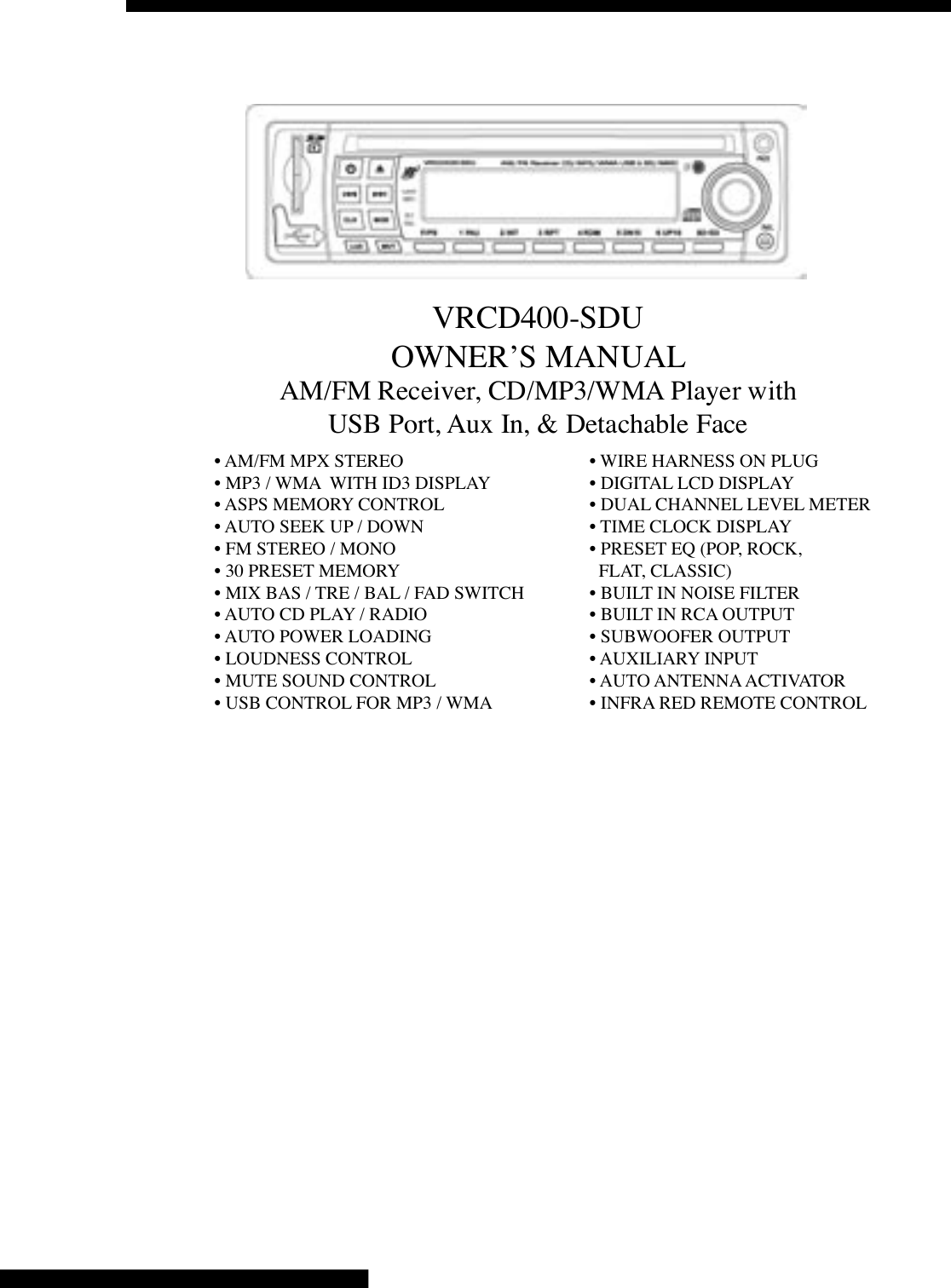 Vrcd500 Sdu Free Wiring Diagram Page 2 And Schematics Vr3 Car Stereo Harness Vrcd400 Schematic Diagrams Wire