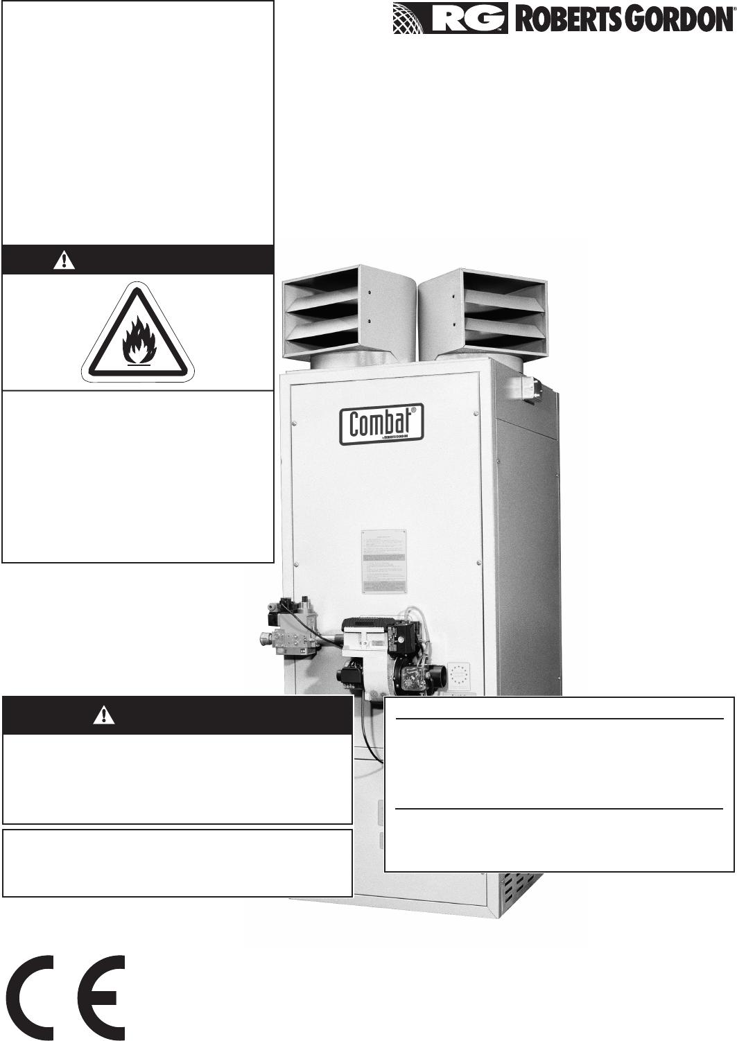 Roberts Gorden Combat Cabinet Heaters Pop Eca Pgp 015 To 0100 Users 1set Tr Hor Demper Dan Reg Manual Cch Heater Ios