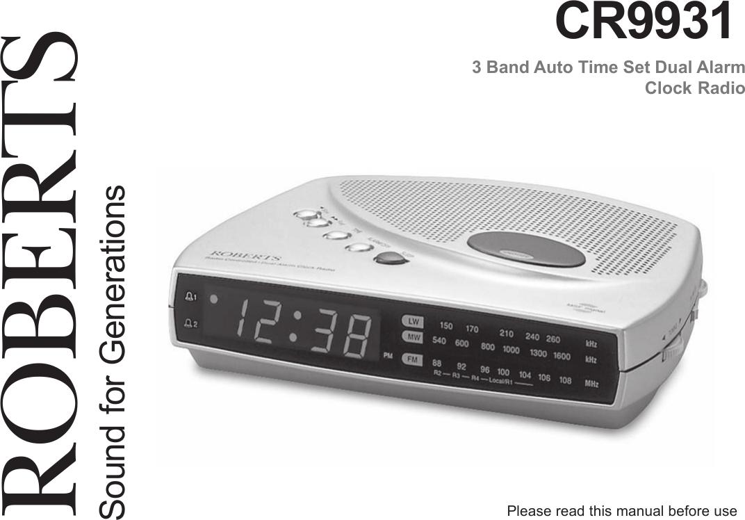 Roberts Radio Cr9931 Users Manual Instruction Book