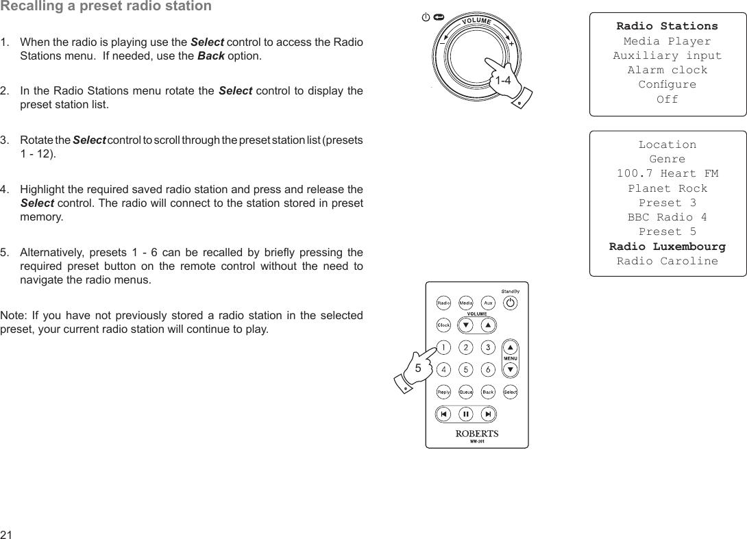 Roberts Radio Wm201 Users Manual WM 201 Iss 1a