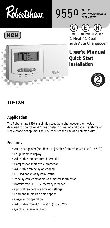 Robertshaw Heat Pump Thermostat Wiring Diagram