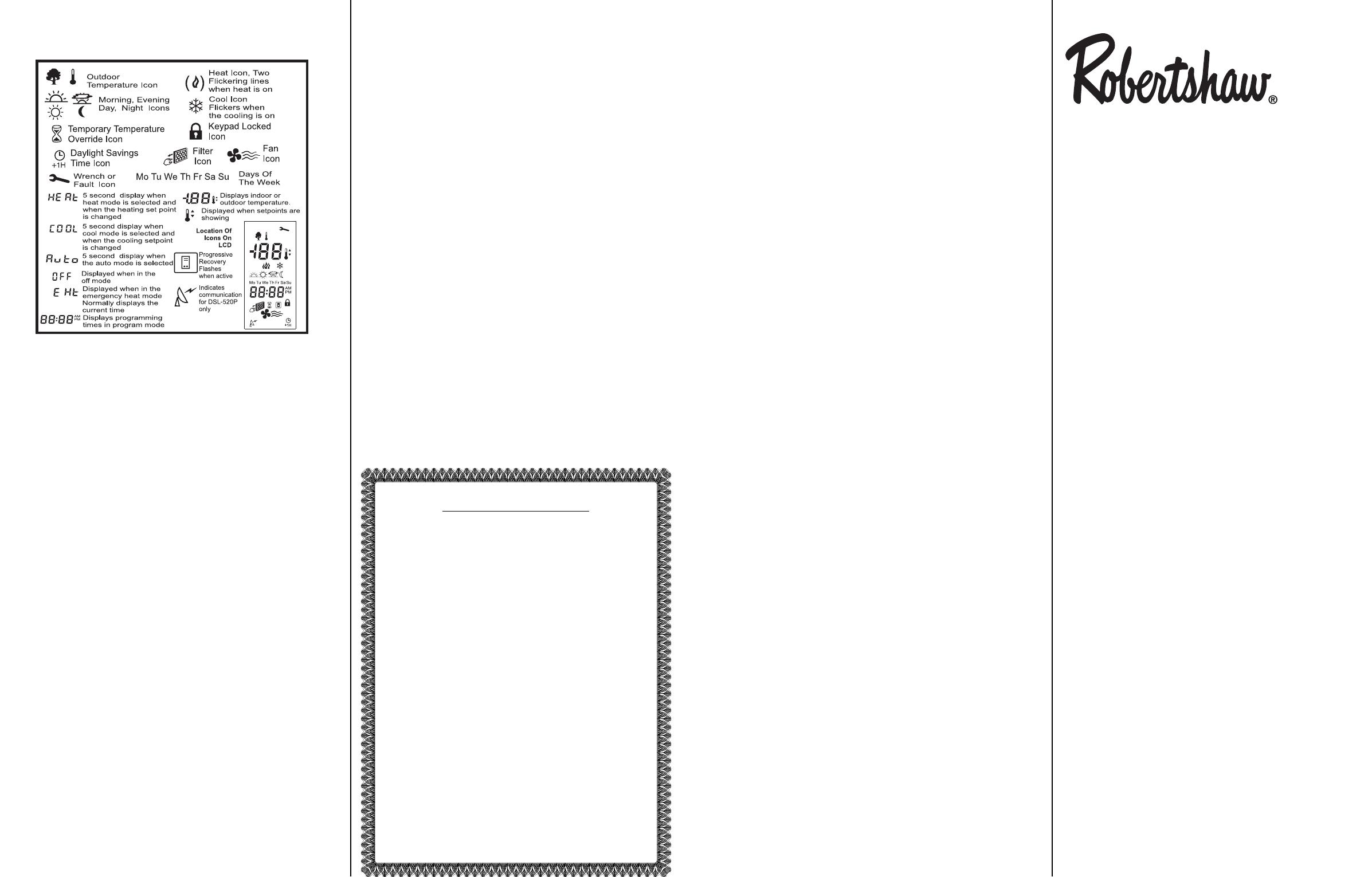 Robertshaw 300 207 Owners Manual 111 113b Circuit Diagram Of Uniline Ups