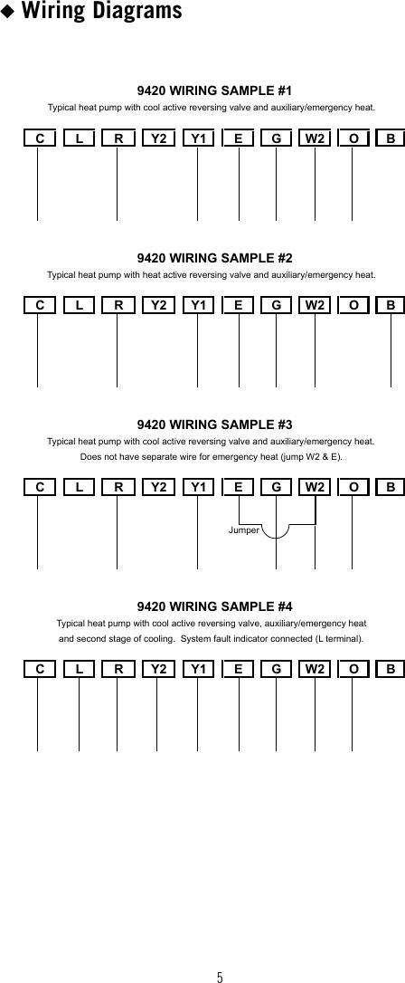 Robertshaw 9420 Wiring Diagram