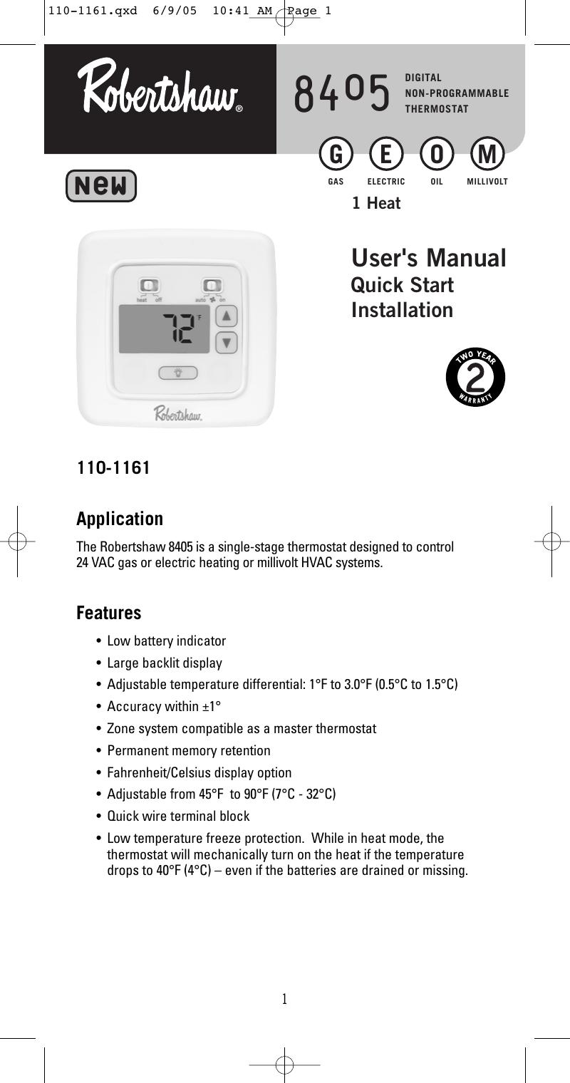 Niedlich Robertshaw Thermostat Schaltplan Fotos - Elektrische ...