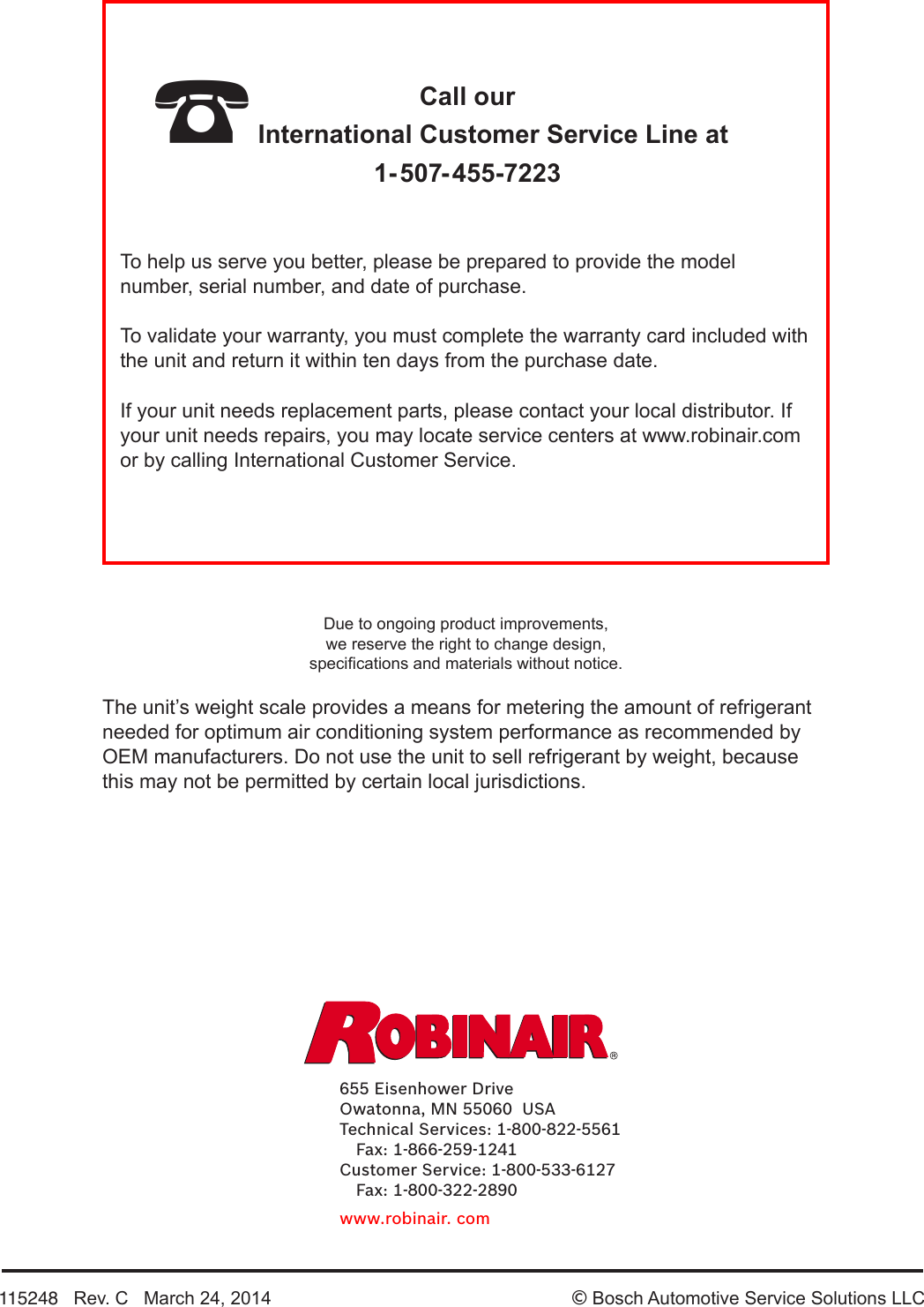 Robinair High Performance Vacuum Pump 15424 Users Manual Ac Unit Wiring Diagram Page 8 Of