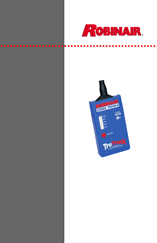 Robinair Trutrack Ultrasonic Leak Detector 16455 Users Manual Ac Unit Wiring Diagram