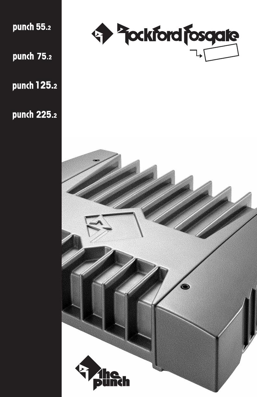 Rockford Fosgate 55 2 Users Manual Punch 552 752 1252 2252 Wiring Schematics