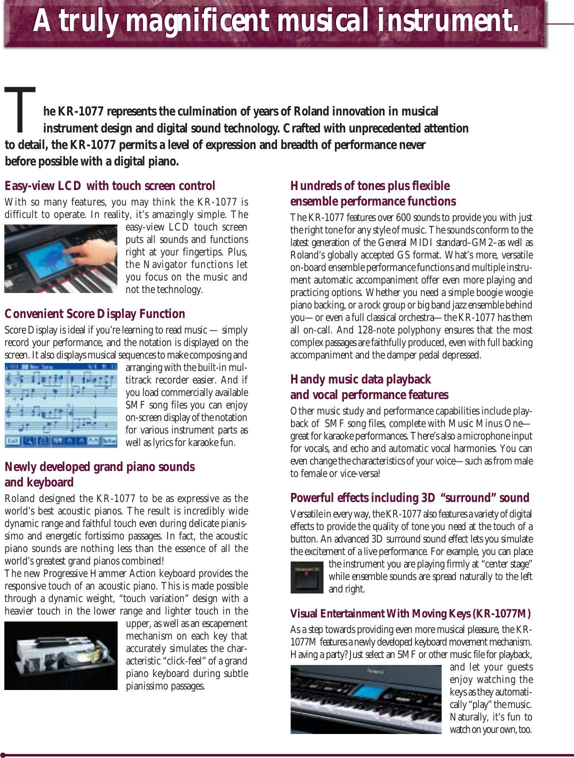 Roland KR 10771077M 1077newQ User Manual To The 04d3a3e7