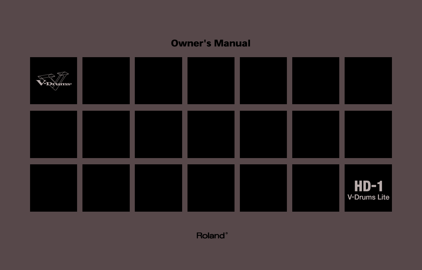 Roland Hd 1 Users Manual