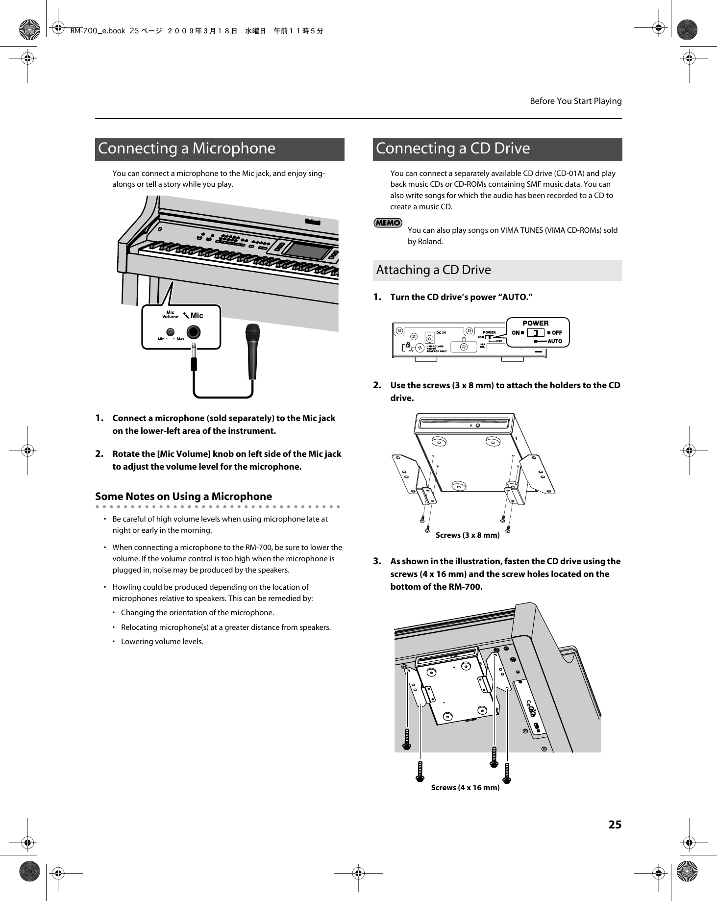 Roland Rm 40 Users Manual