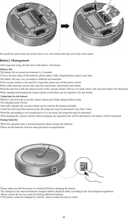 Roommate Dynamic RMRV10-BL Robotic Vacuum Cleaner User Manual 2
