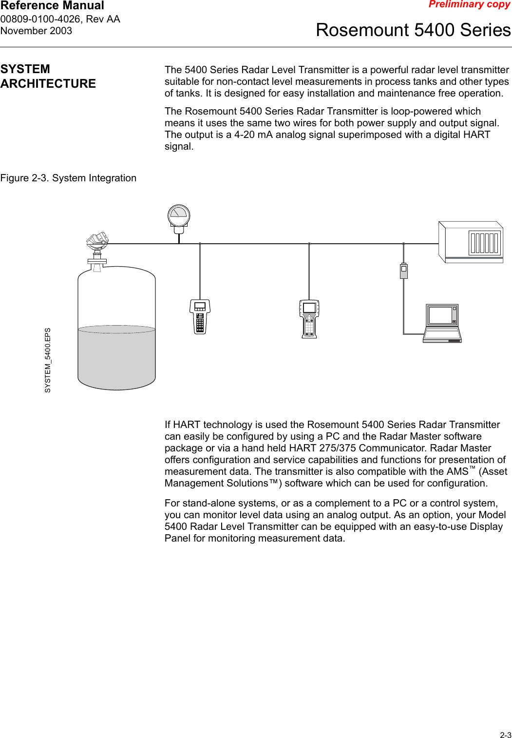 Rosemount Tank Radar 5401 Radar Level Gauge User Manual Book 5400 Barrett Wiring  Diagram Rosemount Level Transmitter Wiring Diagram