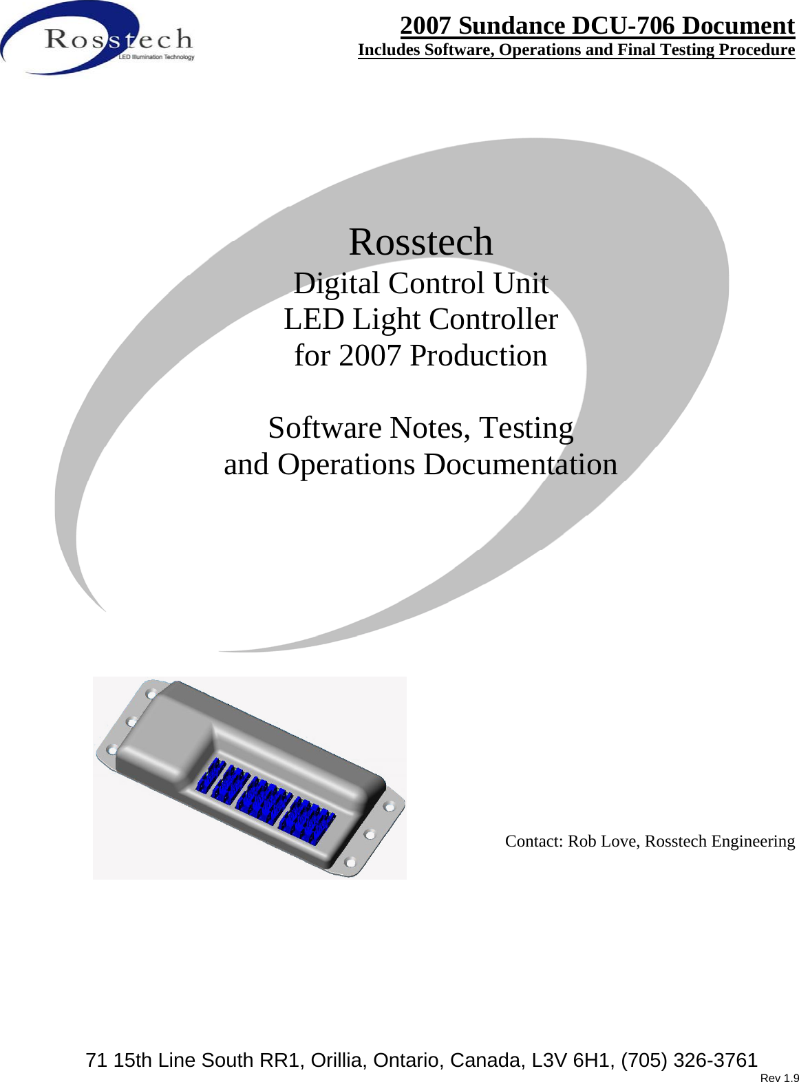 Rosstech Signals DCU706B DCU706B DIGITAL LED LIGHTING