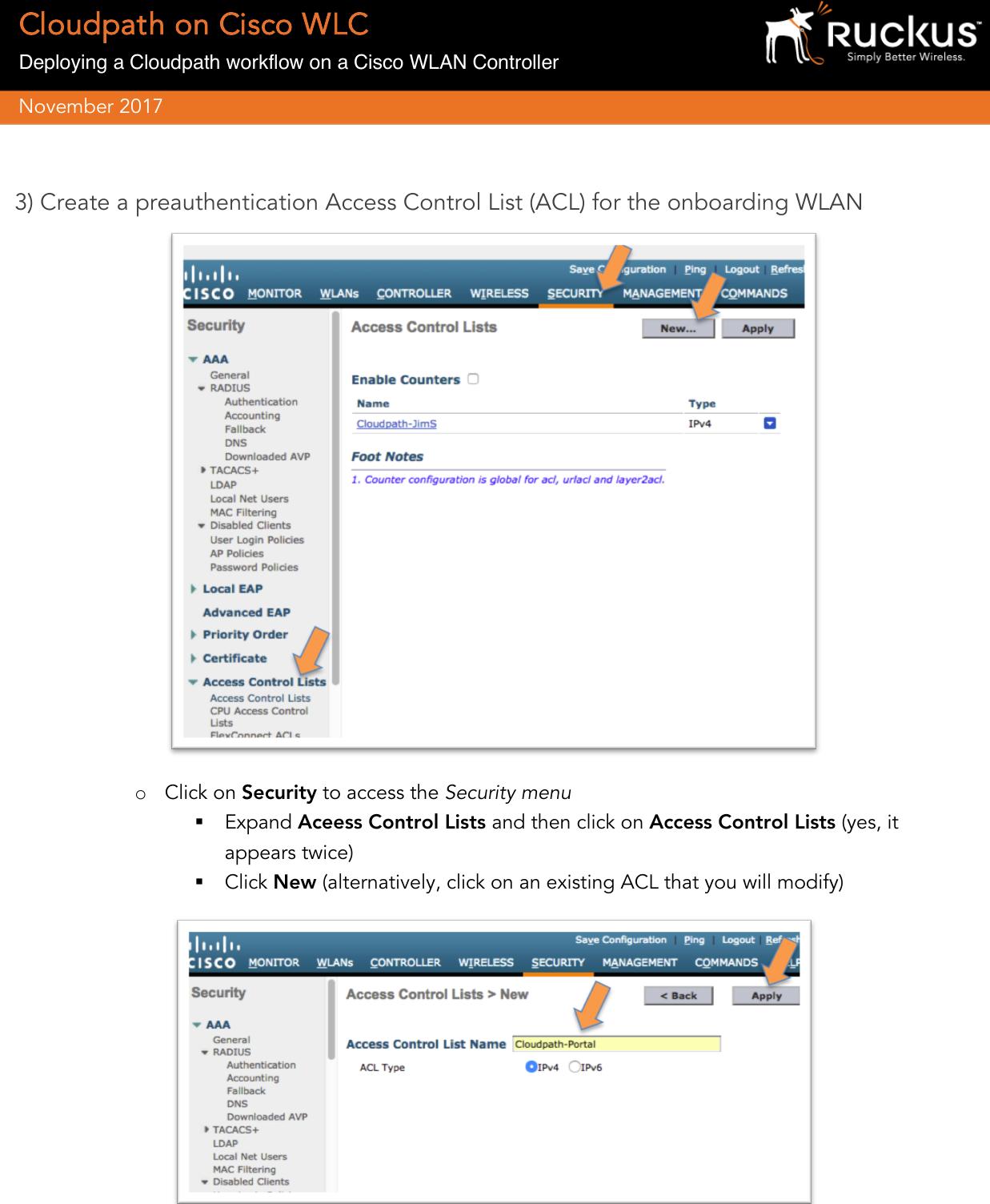 Ruckus BPDG Deploy Cloudpath Workflow On Cisco WLC BPG: