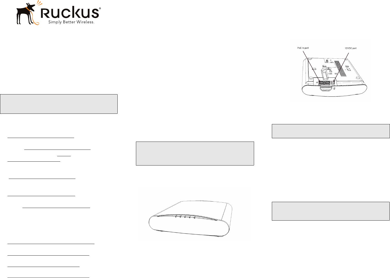 Ruckus R500 Quick Setup Guide R610 (QSG) QSG