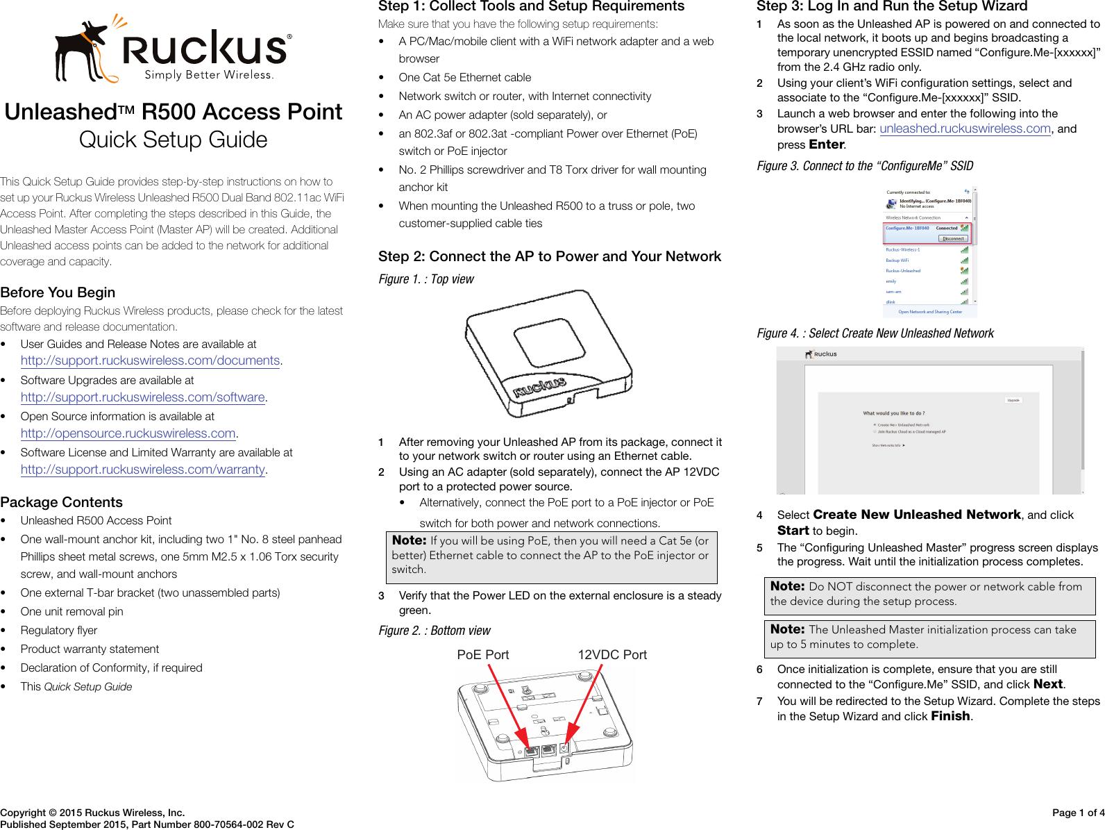 Ruckus ZoneFlex P300 Wireless Bridge Quick Setup Guide