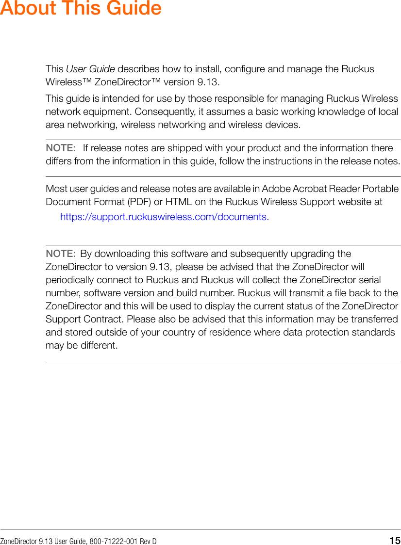 Ruckus Zone Director 9 13 (GA) User Guide ZD Rev D 20160909
