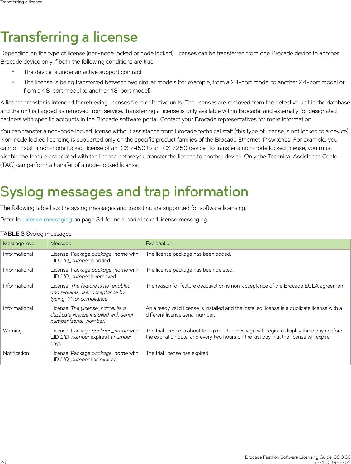 Ruckus Brocade FastIron Software Licensing Guide, 08 0 60