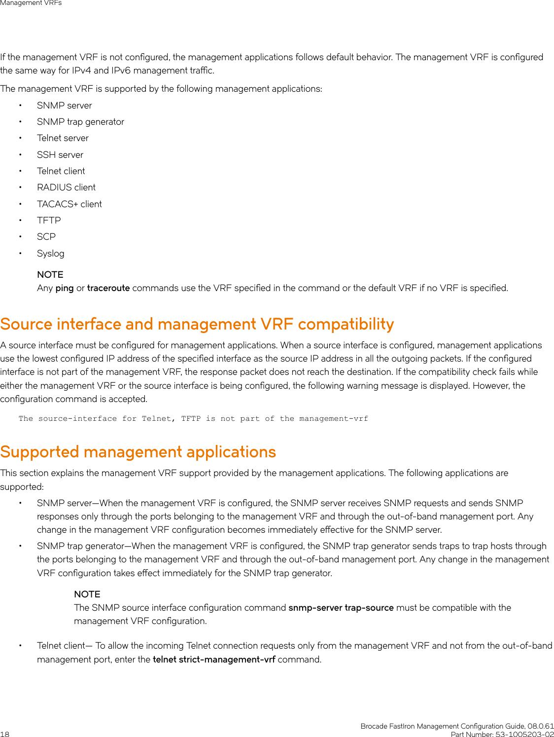 Ruckus Brocade FastIron Management Configuration Guide, 08 0 61 Fast