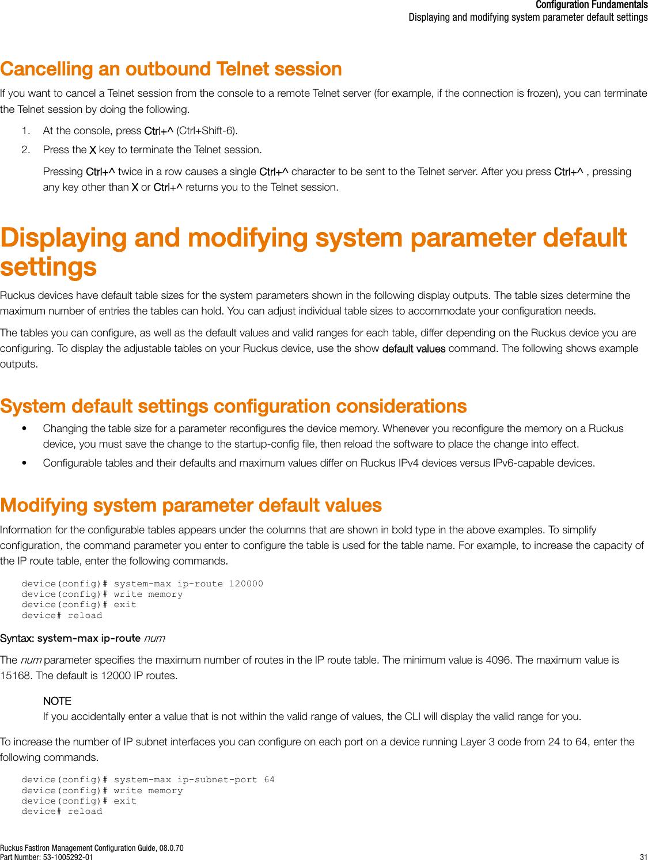 Ruckus FastIron Management Configuration Guide, 08 0 70 Fast