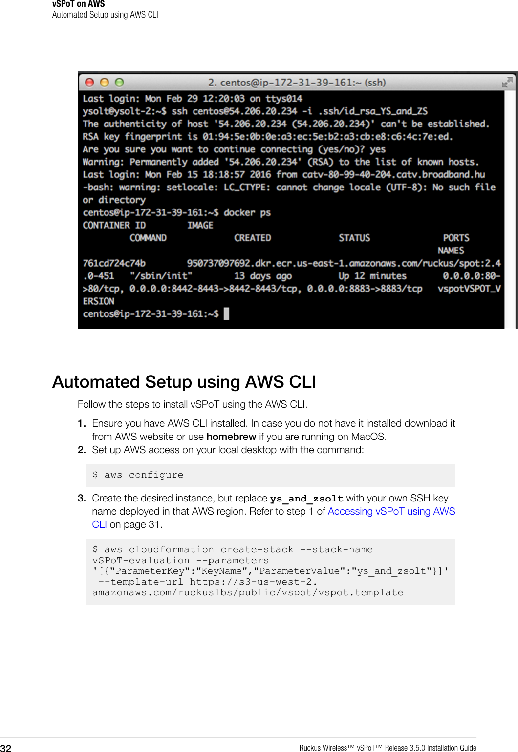 Running Cloudformation From Aws Cli