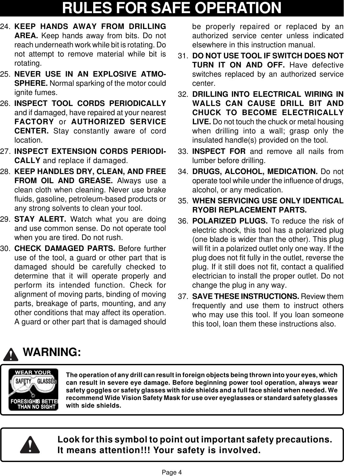 Ryobi D130Vr Owner S Manual D130VR_398_eng