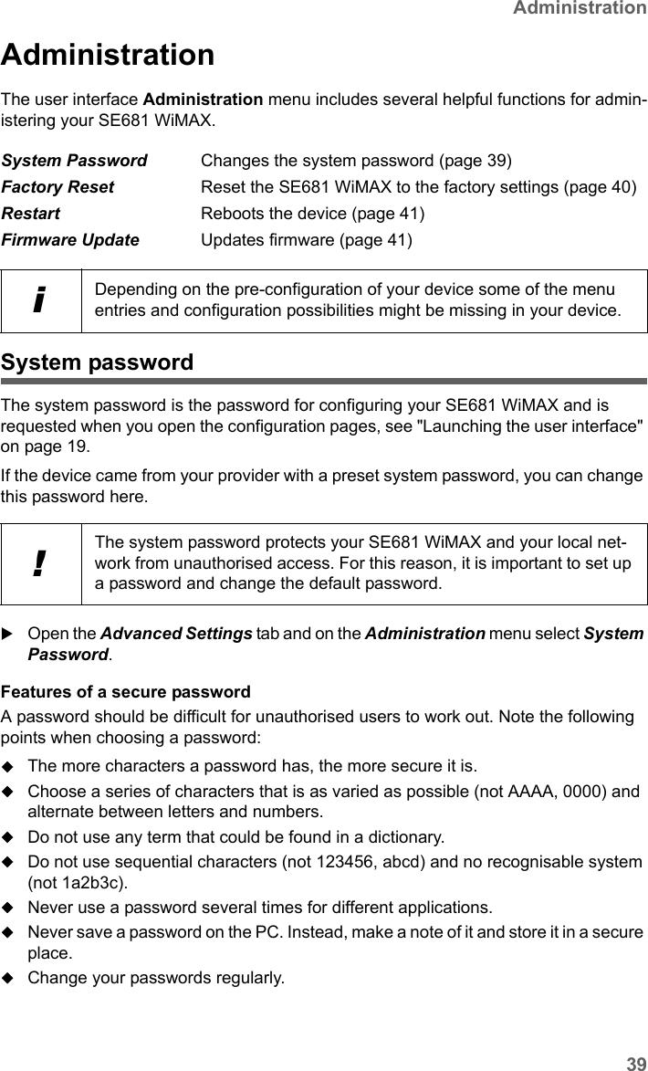 SAGEMCOM BROANDS SE681 WIMAX Terminal Station User Manual SE681 WiMAX