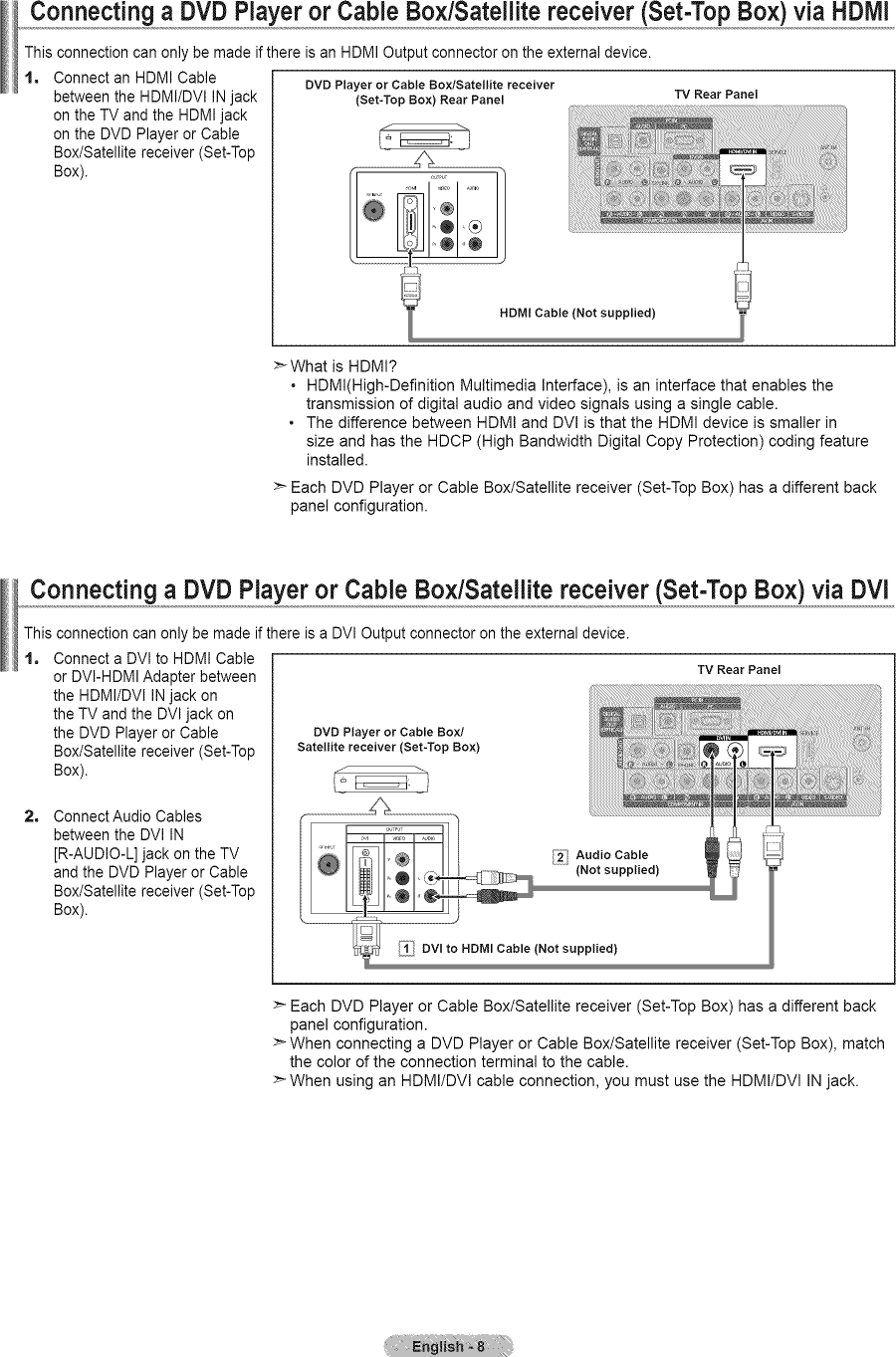 Fancy How To Connect Dvd Player To Cable Box And Tv Component ...