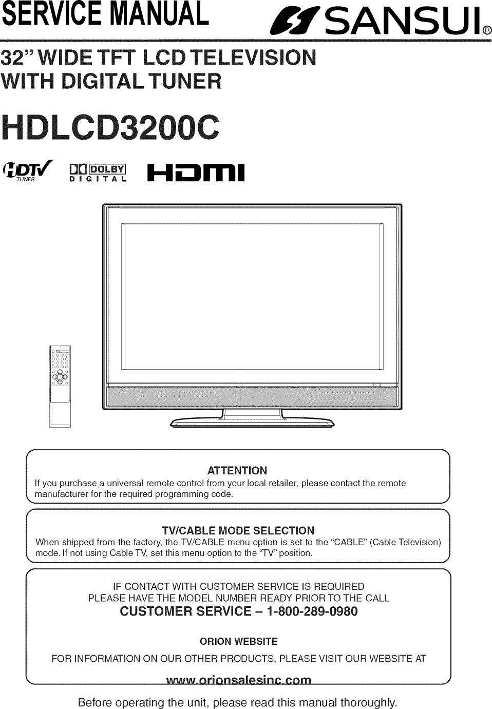 Sansui Lcd Television Manual L0811584 B W Tv Circuit Diagram