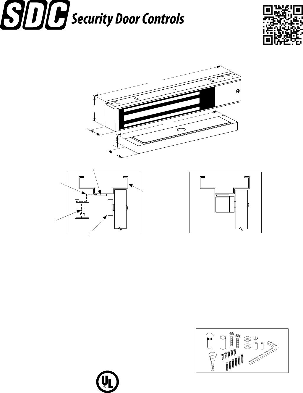 Sdc Inst 350 Narrow Line Magnetic Lock Installation Instructions Locknetics Maglock Wiring Diagram