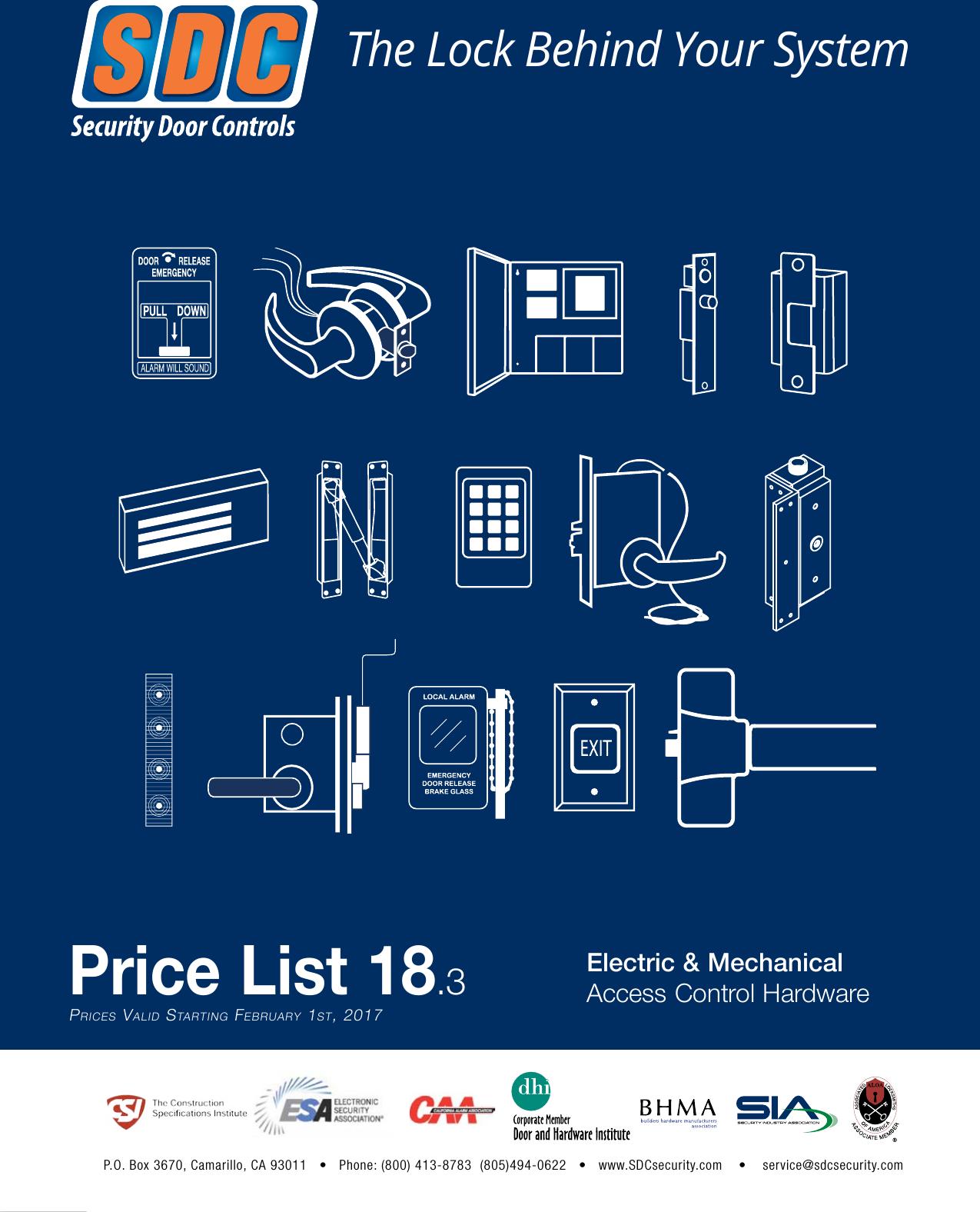 SDC Price List #18 Book SDCPrice List18.3 on