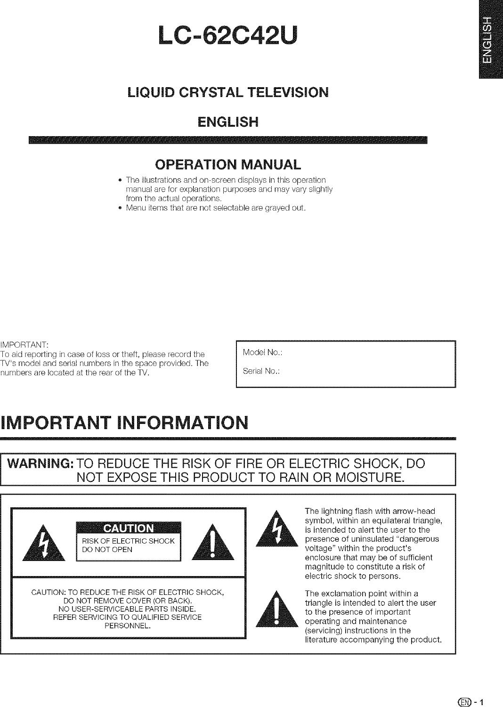 SHARP LCD Television Manual L0802248