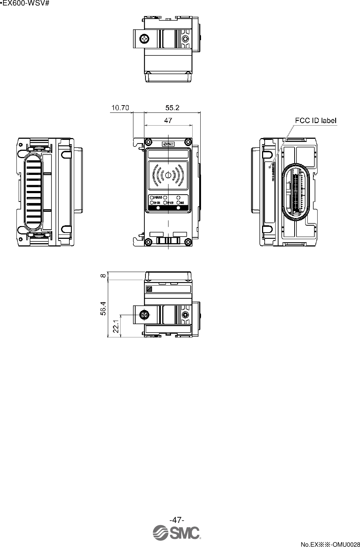Smc Wex01 Wireless I O Device User Manual Manifold Block Wiring Diagram 47 No