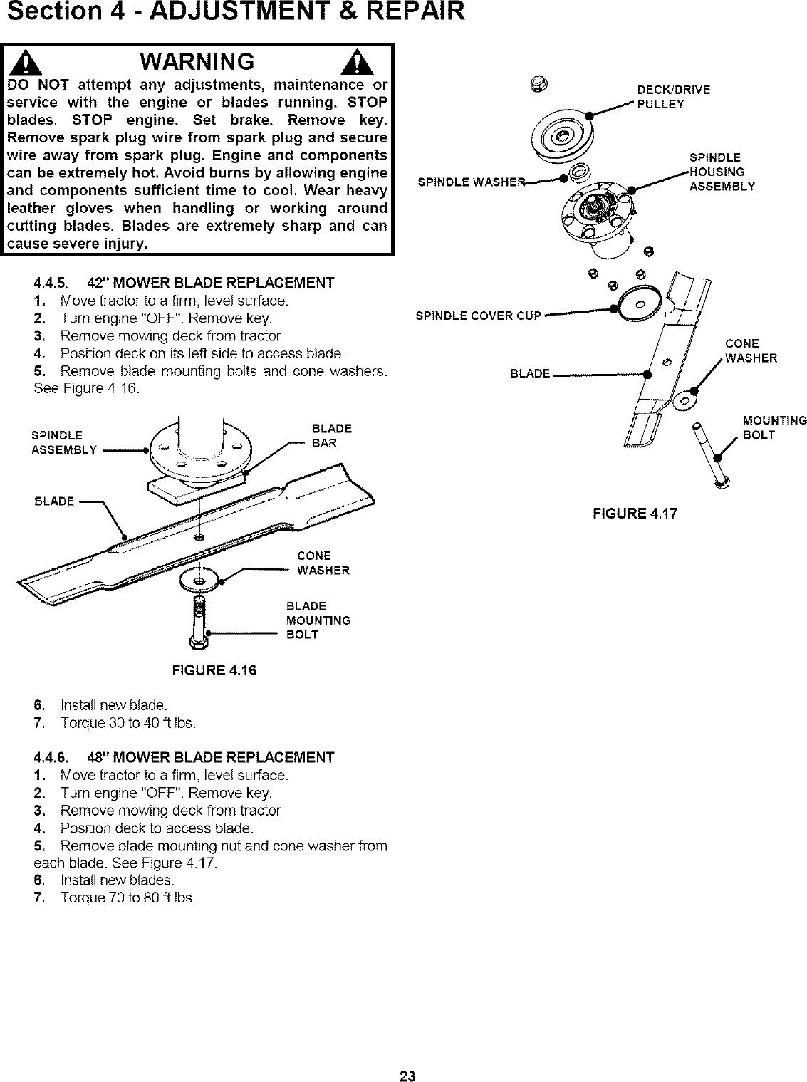 SNAPPER Lawn, Tractor Manual L0808166