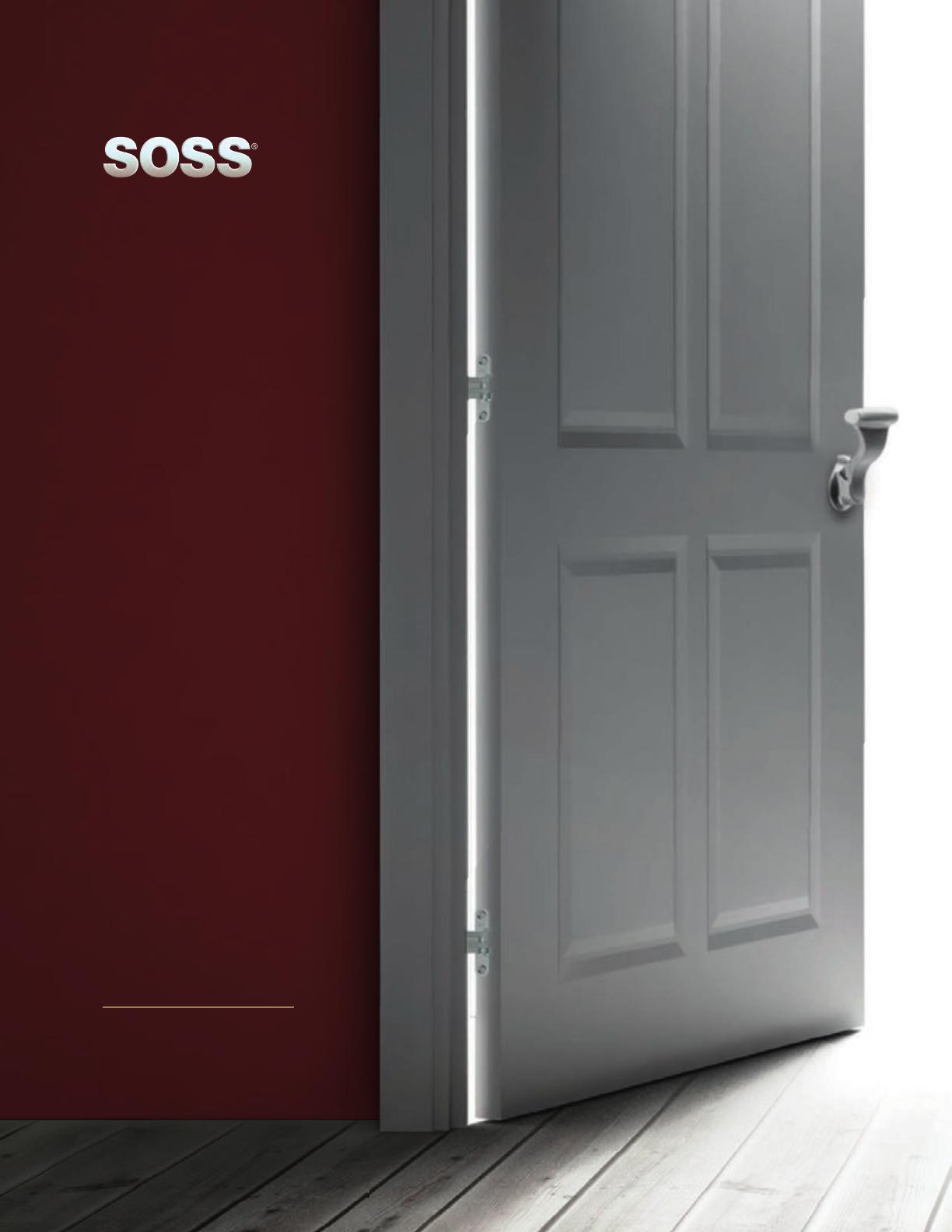 SOSS Zinc Magnetic Door Stop with Hidden Screw Mounts Bright Brass Exterior Finish SOSS Door Hardware MDHBUS3-HS