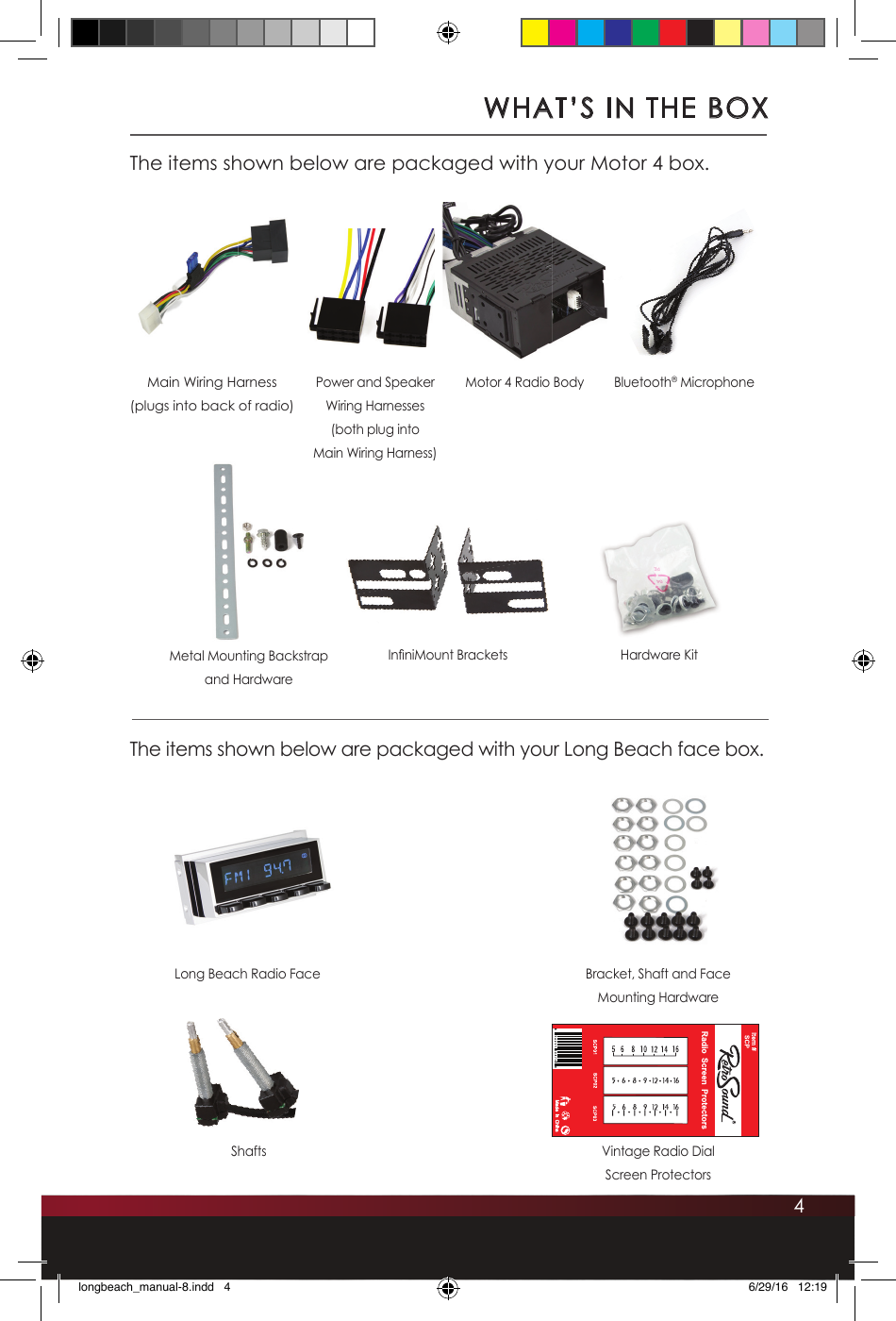 Soundmax Electronics Motor4 Car Audio System Player User Manual Speaker Wiring Guide 4whats In The Boxthe Items Shown Below Are Packaged With Your Motor 4