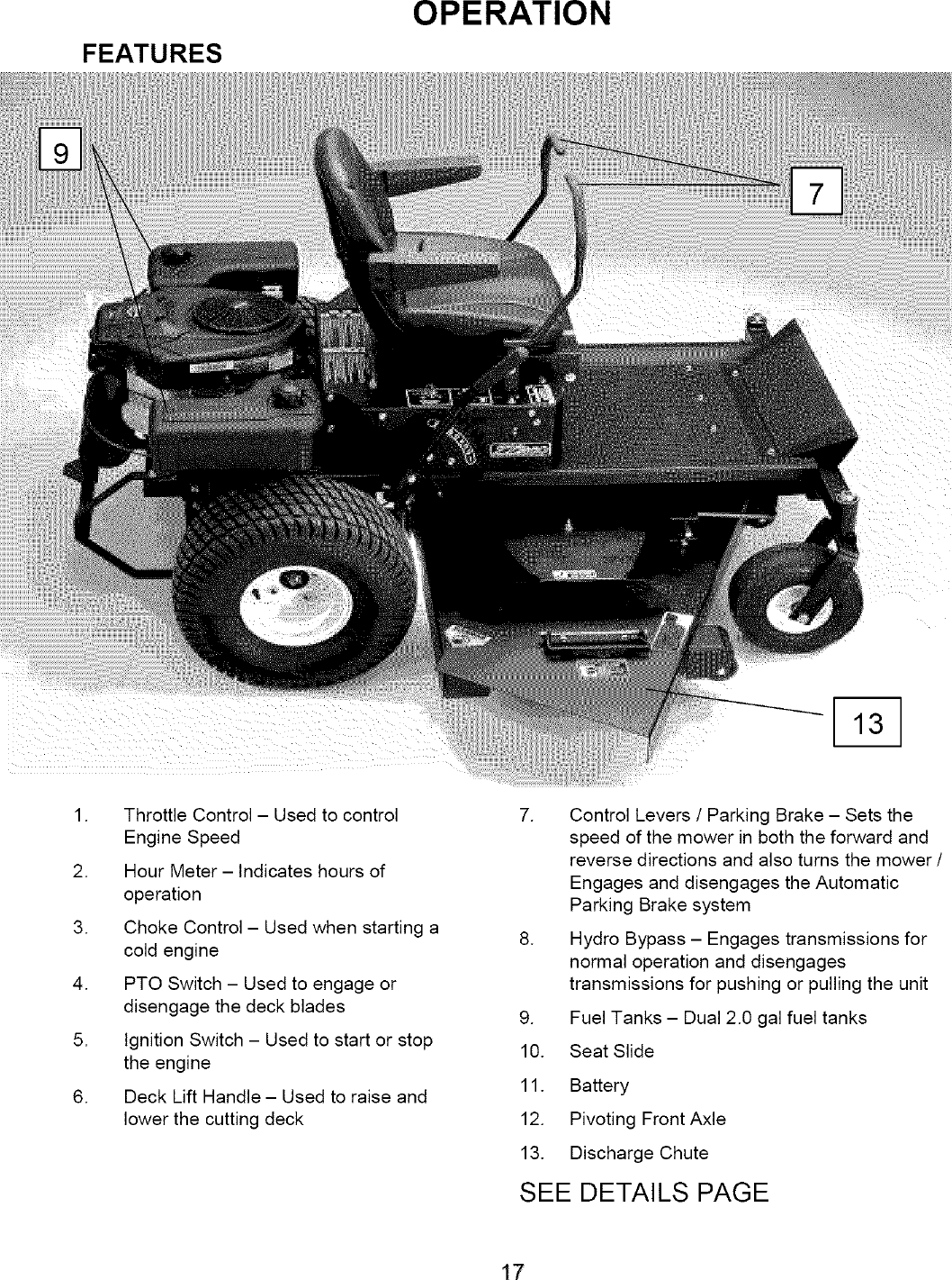 SWISHER Lawn, Riding Mower Rear Engine Manual L0701322